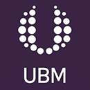 UBM logo white purple