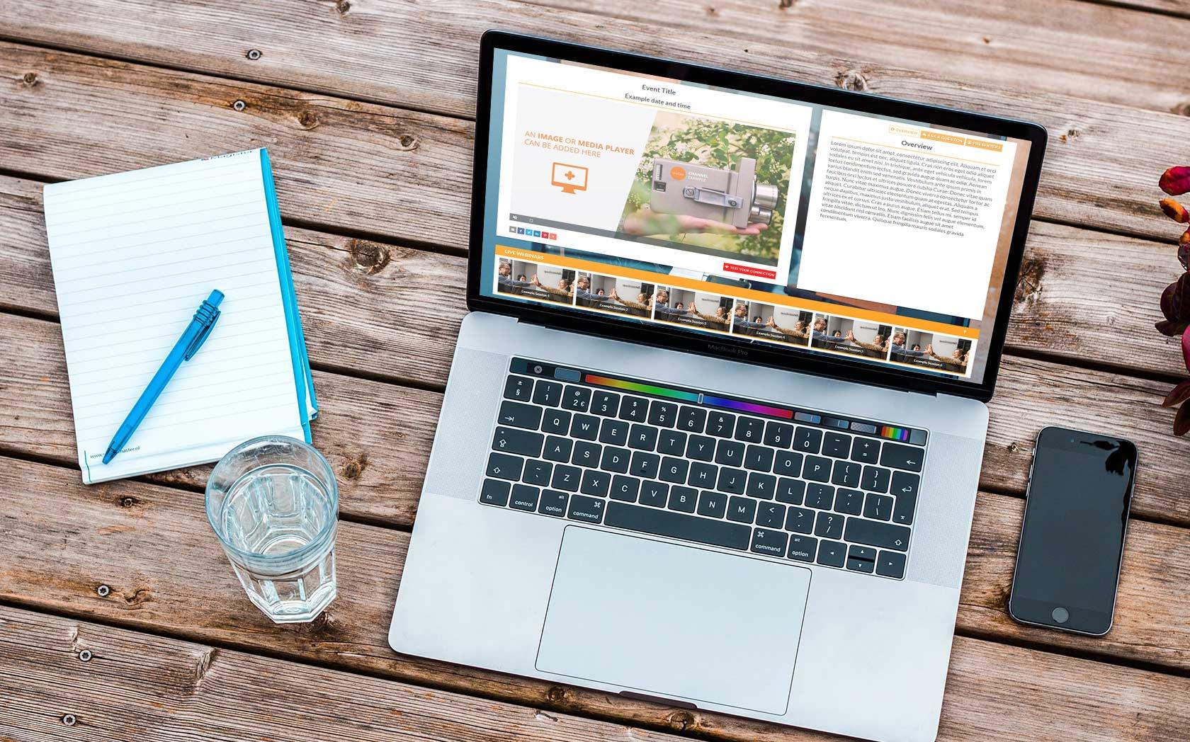 webinar pricing plan laptop screen