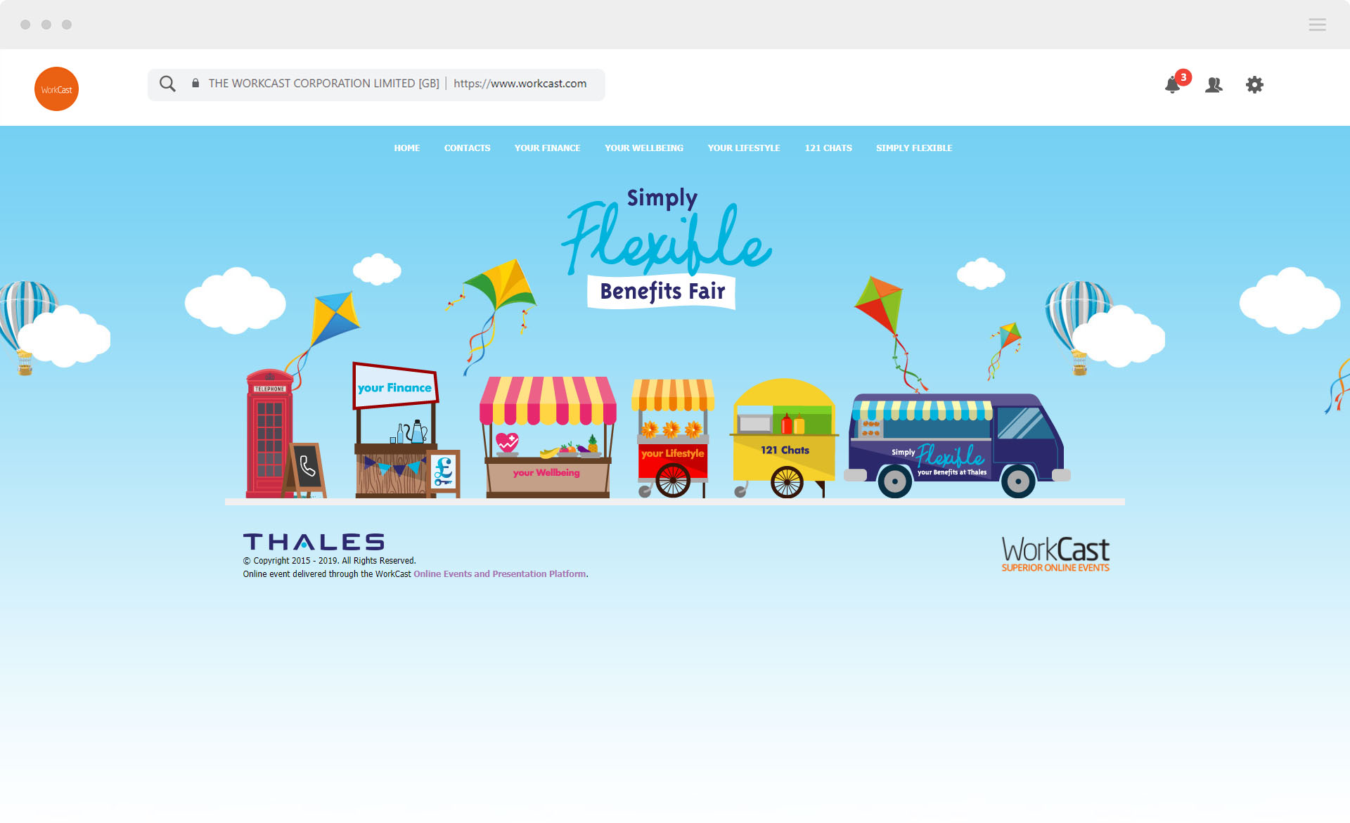 thales virtual event example